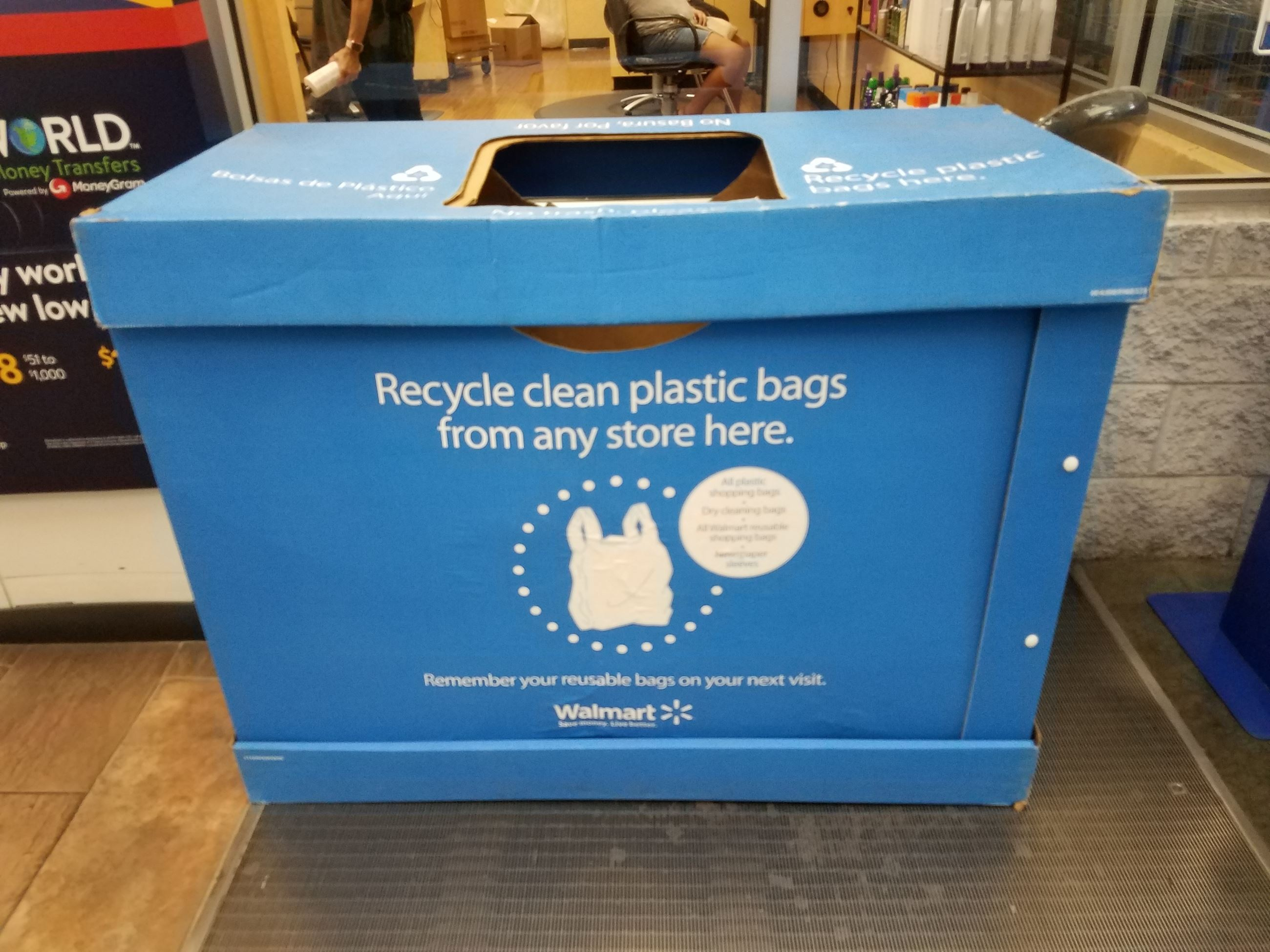 Recycling container at Wal-Mart