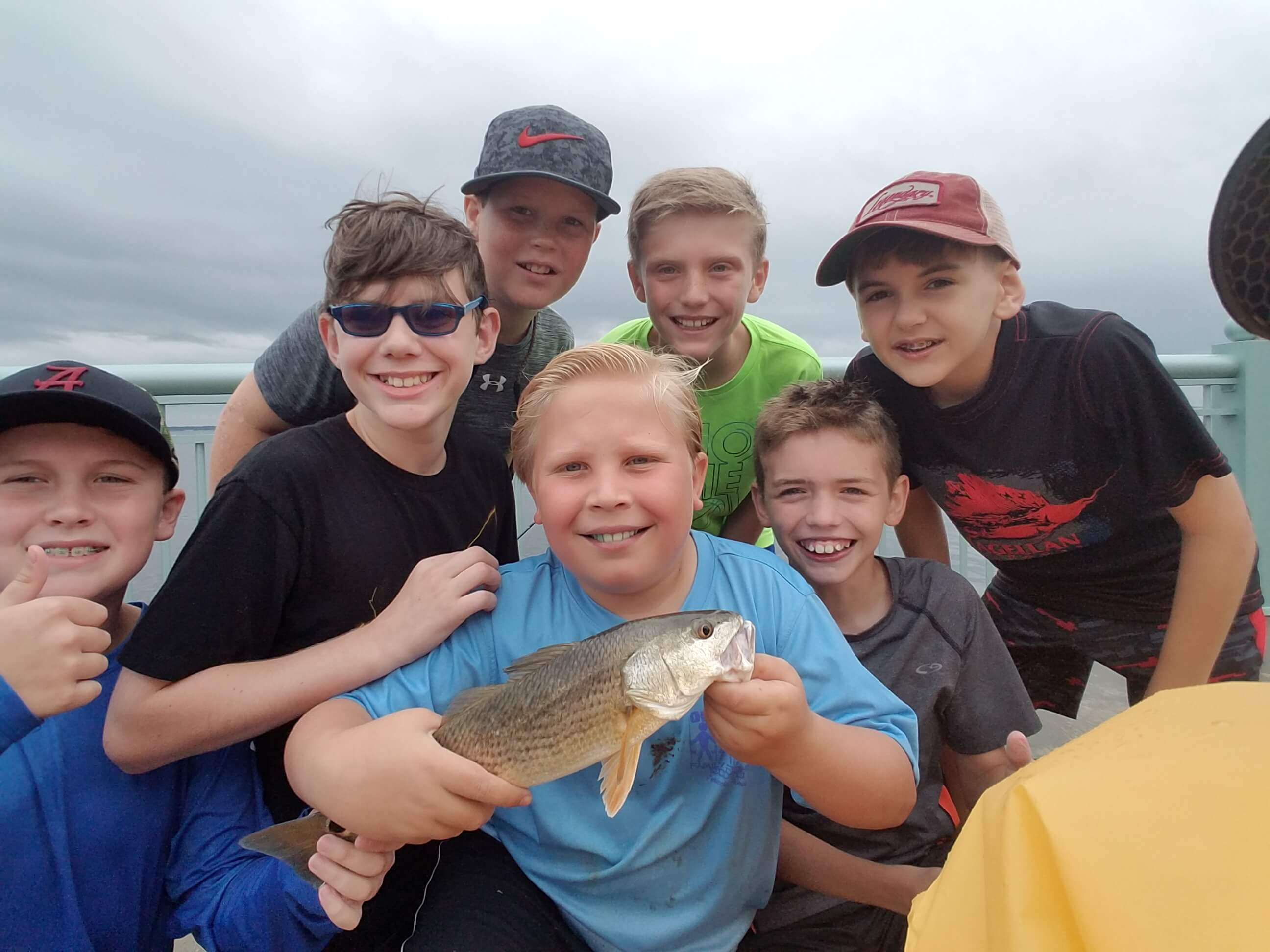 Fishing camp redfish group