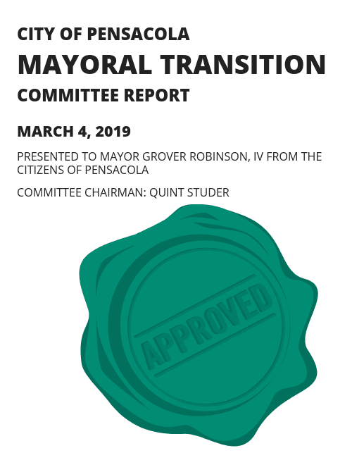 City of Pensacola Mayoral Transition Committee Report with Approval Stamp