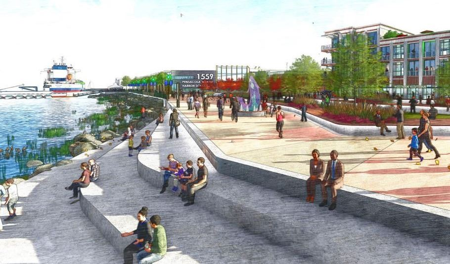 Rendering of the vision for Port of Pensacola