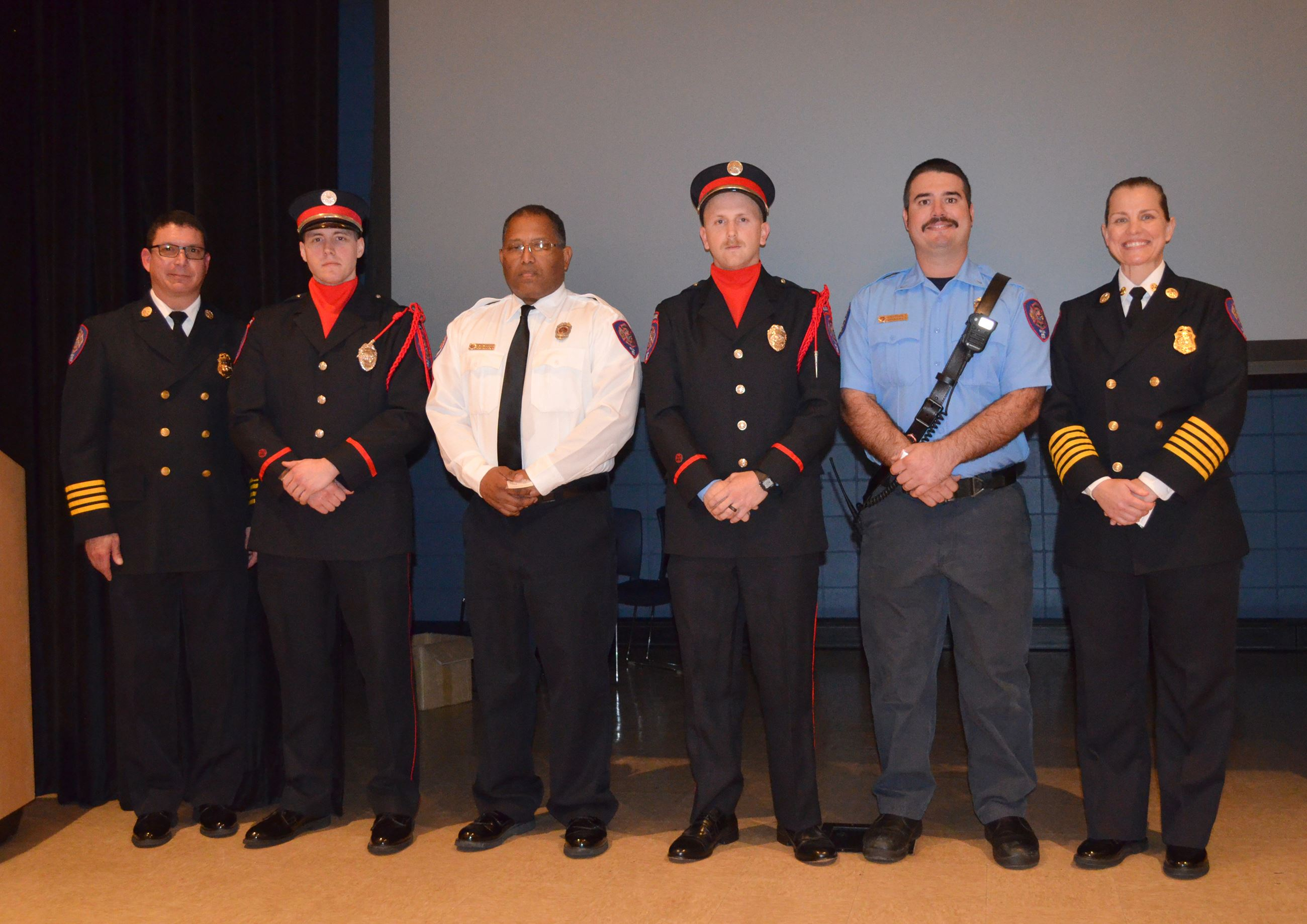 Members of the pensacola fire department at their annual awards ceremony