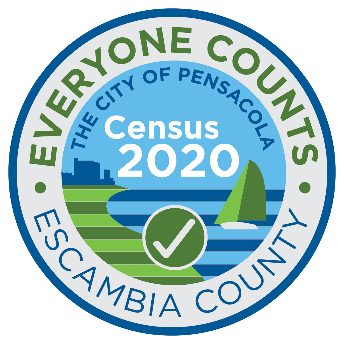 Census Logo Escambia County and City of Pensacola