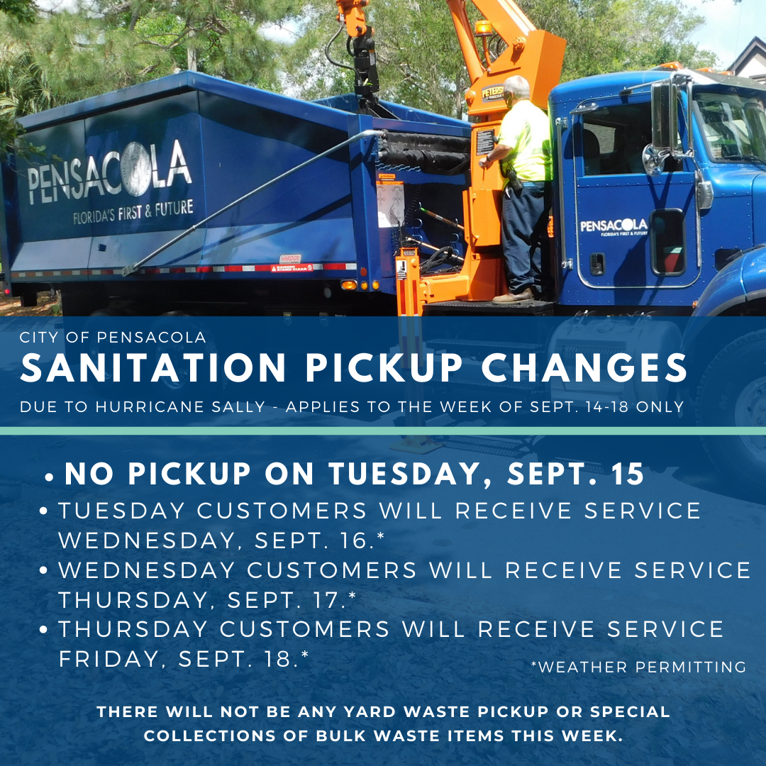 Sanitation pickup changes for Hurricane Sally