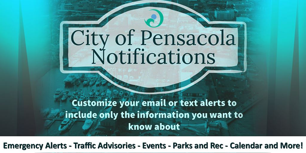 City of Pensacola Notifications flyer