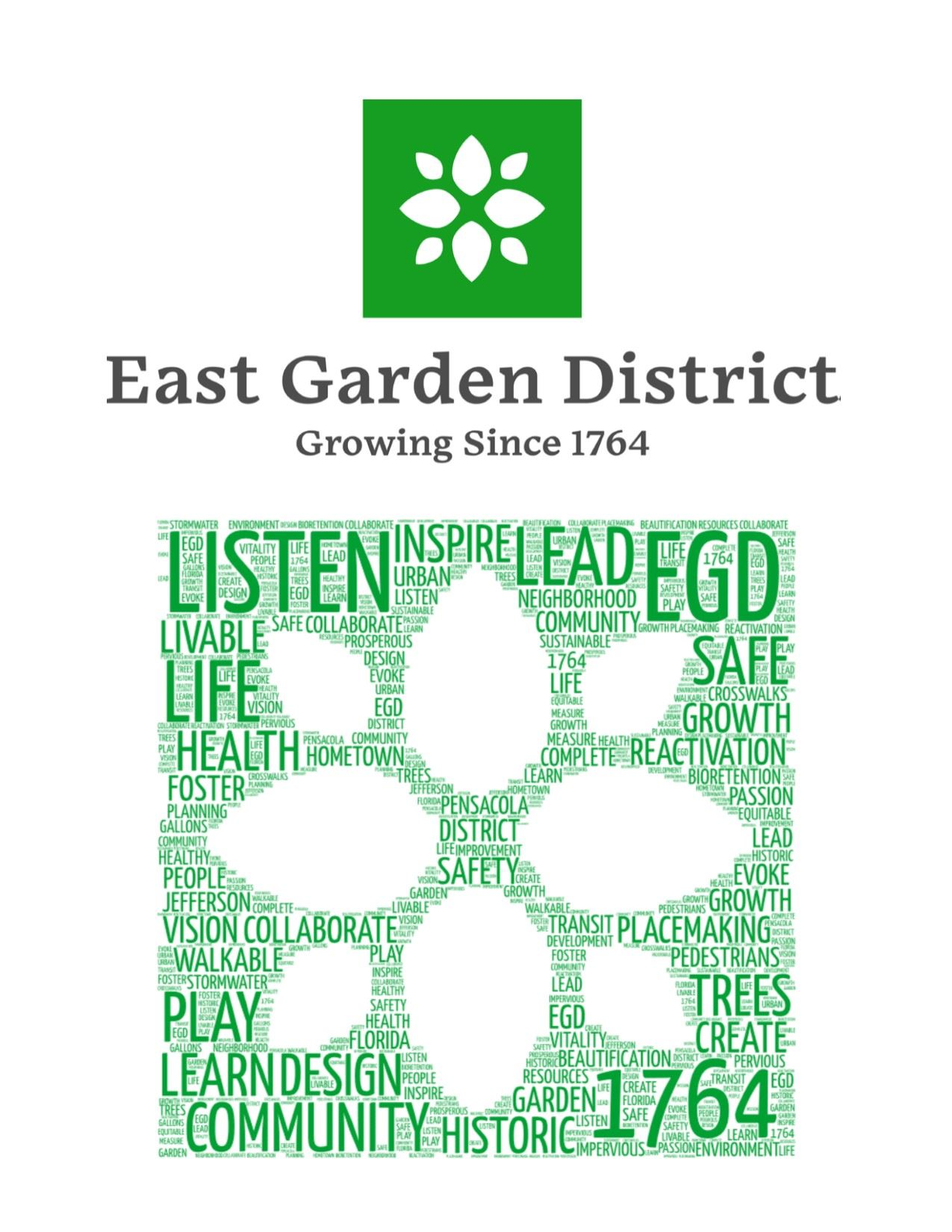 Logo for East Garden District project